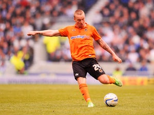 Jamie O'Hara of Wolverhampton Wanderers in action during the npower Championship match between Brighton & Hove Albion and Wolverhampton Wanderers at Amex Stadium on May 4, 2013