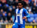 Wigan's Jean Beausejour in action against Norwich on March 30, 2013