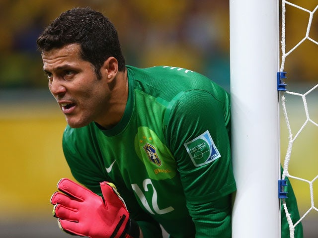 Cesar of Brazil gestures during the FIFA Confederations Cup Brazil 2013 Group A match between Italy and Brazil on June 22, 2013