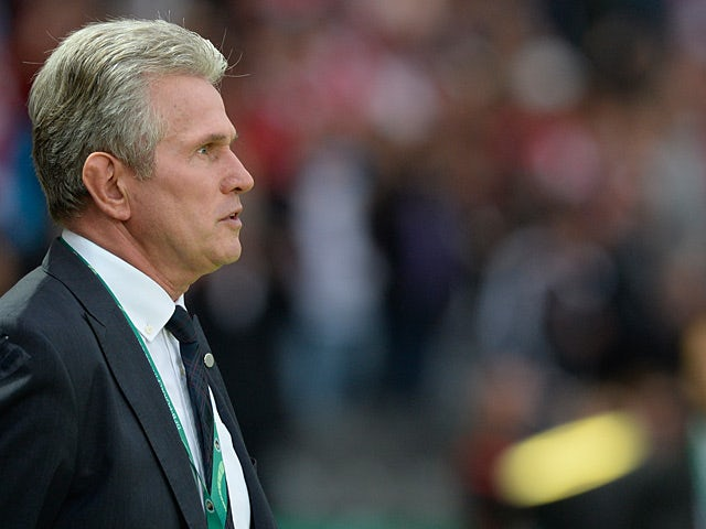 Bayern Munich's head coach Jupp Heynckes on the touchline during the match against Stuttgart on June 1, 2013