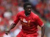 Liverpool's Kolo Toure in action during a friendly match against Olympiacos on August 3, 2013