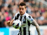 Newcastle's Mathieu Debuchy in action during the match against Stoke on March 10, 2013