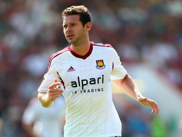 Matt Jarvis of West Ham United during the Pre Season Friendly match between Bournemouth and West Ham United at Goldsands Stadium on July 13, 2013