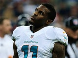 Miami Dolphins' Mike Wallace in action on August 17, 2013