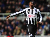Newcastle player Nile Ranger in action during the Barclays Premier League match between Newcastle United and Everton at St James' Park on January 2, 2013