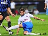 Ondrej Celustka in action for Trabzonspor on September 14, 2011