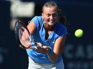 Result: Kvitova comfortably through in Paris