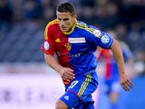 FC Basel's forward Raul Bobadilla controls the ball on May 29, 2013