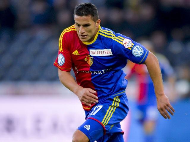 FC Basel's forward Raul Bobadilla controls the ball on May 29, 2013