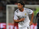 Real Madrid's Sami Khedira in action against Lyon during a friendly match on July 24, 2013