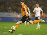 Stephen Ward of Wolves passes the ball during the npower Championship match between Wolverhampton Wanderers and Bolton Wanderers at Molineux on October 23, 2012