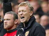 Manchester United manager David Moyes during the match against Swansea on August 17, 2013