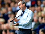 Steve Clarke of West Bromwich Albion looks on during the Barclays Premier League match between West Bromwich Albion and Southampton at The Hawthorns on August 17, 2013