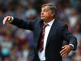 Manager of West Ham Sam Allardyce directs the team during the Barclays Premier League match between West Ham United and Cardiff City at the Bolyen Ground on August 17, 2013
