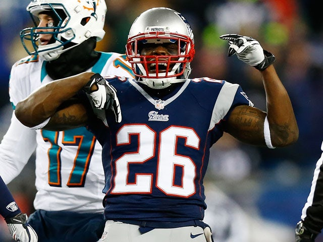 Will Allen of the New England Patriots celebrates following his sack on Ryan Tannehill #17 of the Miami Dolphins during the game at Gillette Stadium on December 30, 2012