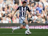 Zoltan Gera of West Bromwich Albion in action during the Barclays Premier League match between West Bromwich Albion and Queens Park Rangers at The Hawthorns on October 6, 2012