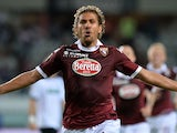 Torino's Alessio Cerchi celebrates a goal against US Sassuolo Calcio on August 25, 2013