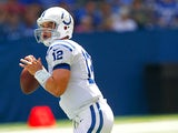 Indianapolis Colts' Andrew Luck in action against Buffalo Bills on August 11, 2013