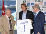 Bernd Schuster is unveiled as the new manager of Real Madrid.