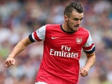 Arsenal's Carl Jenkinson in action against Aston Villa on August 17, 2013