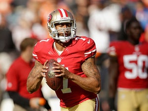 San Francisco 49ers' Colin Kaepernick during a warm-up before the game against Denver Broncos on August 8, 2013