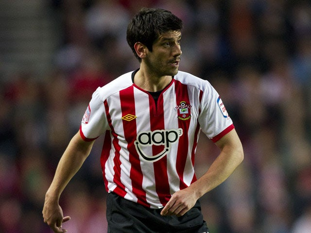 Danny Butterfield of Southampton in action during the npower Championship match between Southampton and Reading at St. Mary's Stadium on April 13, 2012