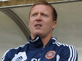 Hearts boss Gary Locke on the touchline against Dunfermline on July 13, 2013