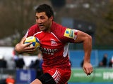 Gavin Henson of London Welsh in action during the Aviva Premiership match between Saracens and London Welsh at Allianz Park on March 3, 2013