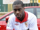 Sevilla's Geoffrey Kondogbia at a photo-shoot on July 27, 2012