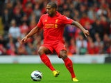 Liverpool defender Glen Johnson in action on September 23, 2012