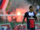 Paris Saint-Germain's French midfielder Gregory Van der Wiel looks on during a friendly football game between PSG and Rapid Wien at the Gerhard Hanappi stadium in Vienna, on July 12, 2013