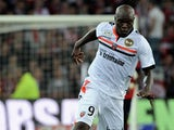 Lorient's forward Innocent Emeghara controls the ball during the French L1 football match Lille (Losc) vs Lorient (FCL), on August 10, 2013