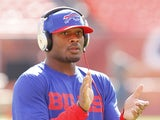 Jairus Byrd #31 of the Buffalo Bills warm up prior to the game against the Miami Dolphins on December 23, 2012