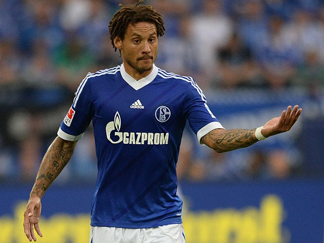Schalke's Jermaine Jones in action against Hamburg on August 11, 2013