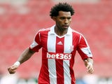 Stoke's Jermaine Pennant in action against Genoa on August 10, 2013