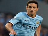 City summer signing Jesus Navas in action against Newcastle on August 19, 2013