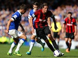 West Brom defender Jonas Olsson evades the tackles against Everton on August 24, 2013