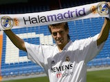 Jonathan Woodgate is unveiled as a Real Madrid player on August 21, 2004