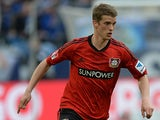 Leverkusen's Lars Bender in action against Schalke on August 13, 2013
