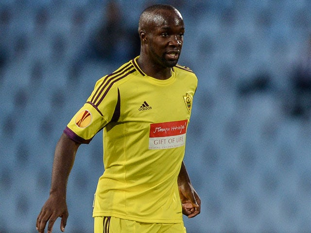 Anzhi Makhachkala's French midfielder Lassana Diarra walks on the pitch during the UEFA Europa League football match between Udinese Calcio and FC Anzhi Makhachkala at Udine's 'Friuli' comunal stadium on September 20, 2012