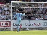 Coventry's Leon Clarke celebrates after scoring the equaliser against Preston on August 25, 2013