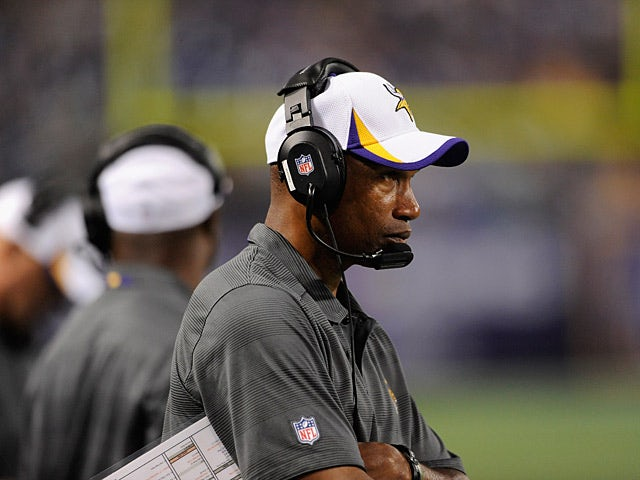 Minnesota Vikings head coach Leslie Frazier watches his team during a pre-season match against Houston Texans on August 9, 2013