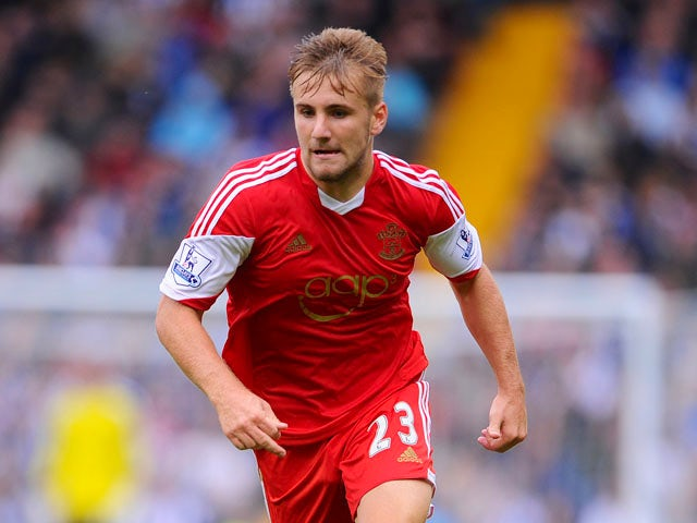 Luke Shaw of Southampton in action during the Barclays Premier League match between West Bromwich Albion and Southampton at The Hawthorns on August 17, 2013