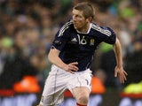Mark Wilson of Scotland during the Carling Nations Cup match between Northern Ireland and Scotland at the Aviva Stadium on February 9, 2011