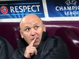 Mike Phelan looks on before the UEFA Champions League Group H match between CFR 1907 Cluj and Manchester United at the Constantin Radulescu Stadium on October 2, 2012