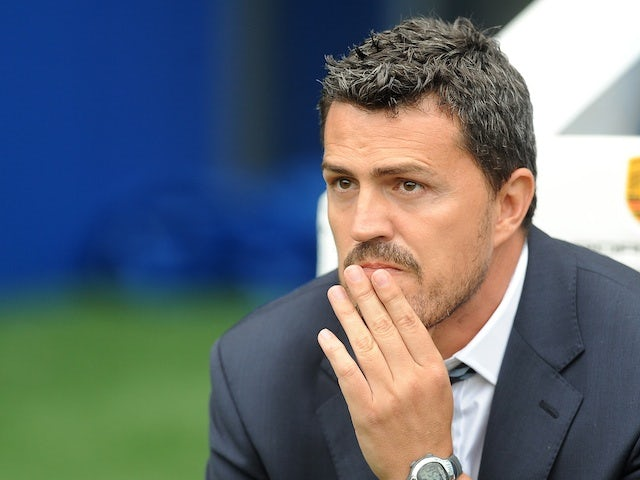 Brighton boss Oscar Garcia on the touchline during a game with Burnley on August 24, 2013