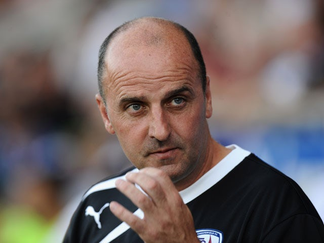 Paul Cook, manager of Chesterfield t during the Pre Season Friendly match between Chesterfield and Nottingham Forest at Proact Stadium on July 16, 2013