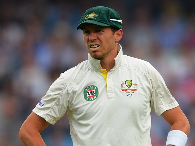 Australia's Peter Siddle in action during day three of the 5th Ashes Test at the Oval on August 23, 2013