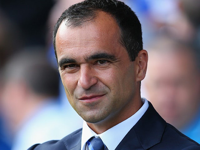 Everton manager Roberto Martinez during the match against West Brom on August 24, 2013
