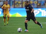 Rodrigo Palacio of FC Internazionale Milano in action during the TIM cup match between FC Internazionale Milano and AS Cittadella at Stadio Giuseppe Meazza on August 18, 2013